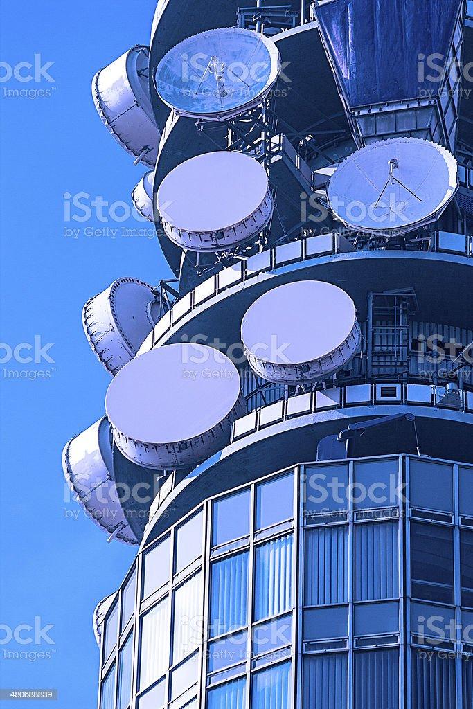 Telecommunication Dishes stock photo