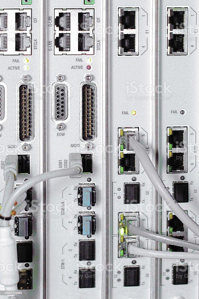 Telecommunication equipment. royalty-free stock photo