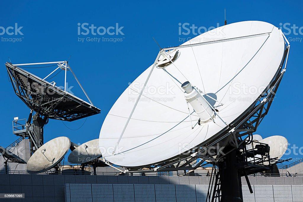 Telecommunication Satellites stock photo