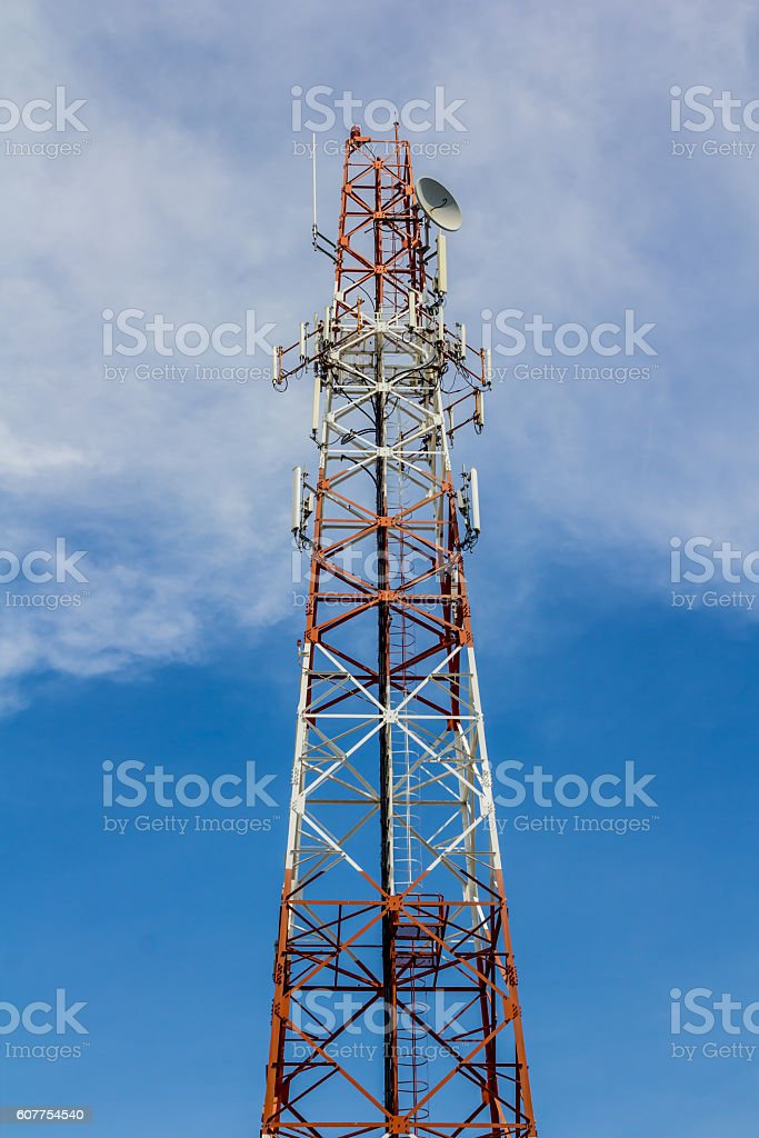 Telecommunication tower royalty-free stock photo
