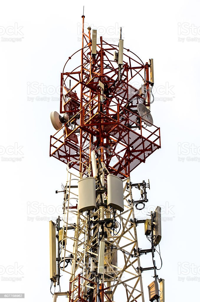 Telecommunication tower royalty-free stock photo