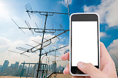 Telecommunication tower with smart phone
