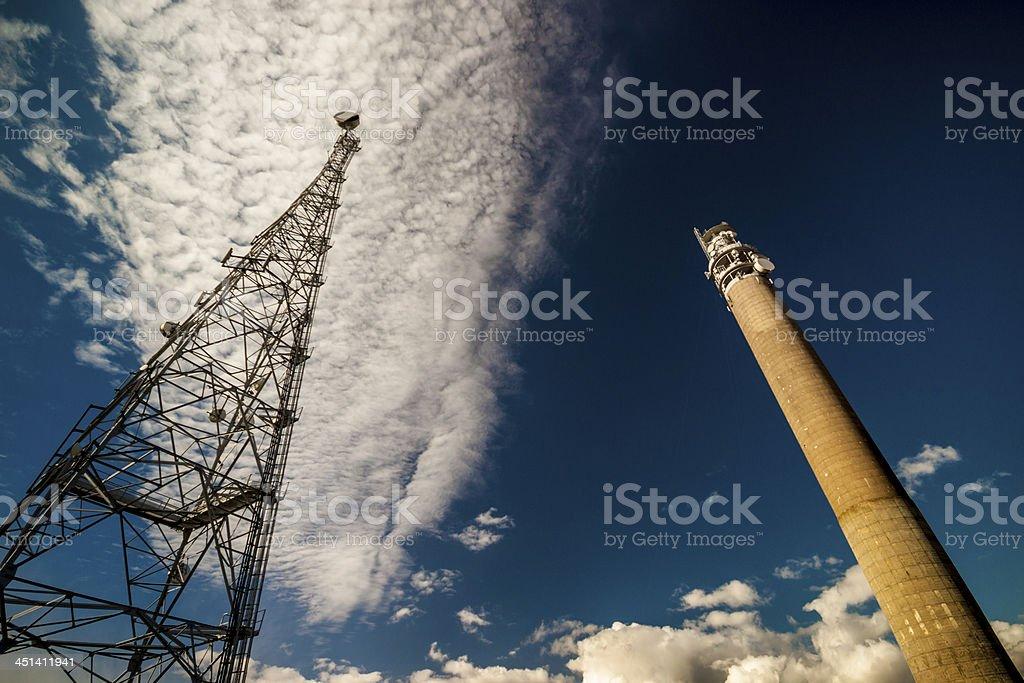 Telecommunication Towers stock photo