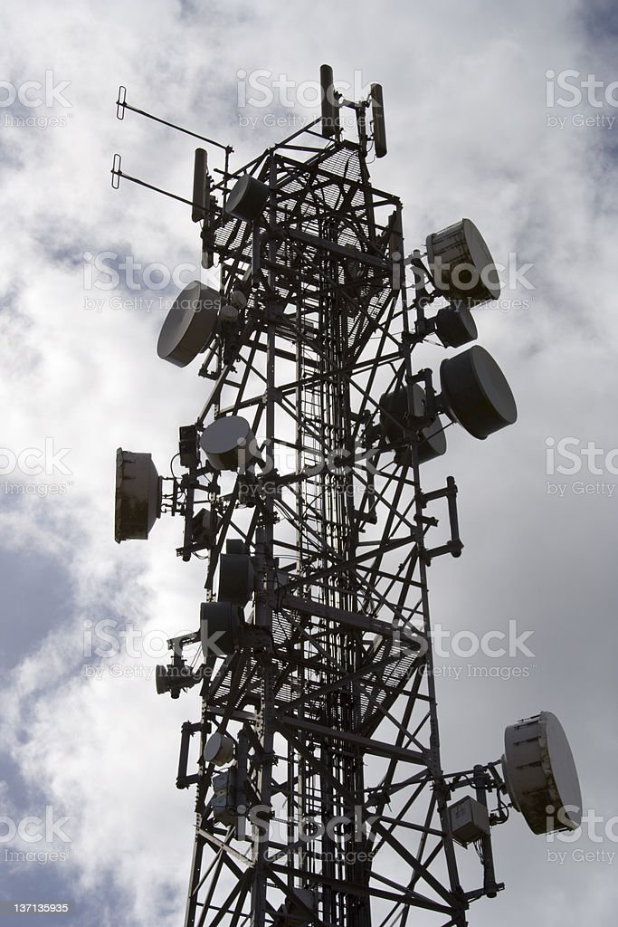 Telecommunications mast 3 royalty-free stock photo
