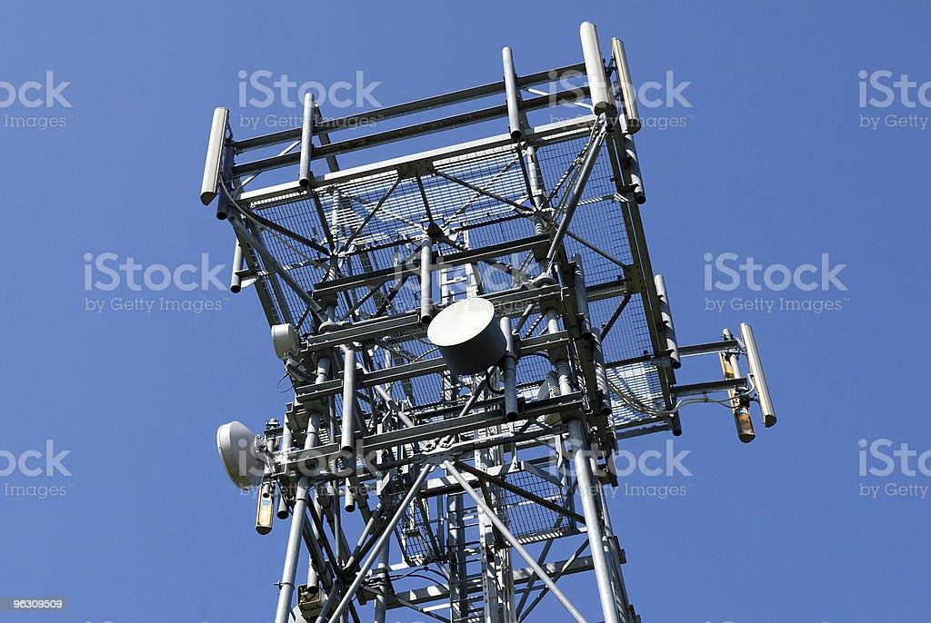 Telecommunications mast. stock photo
