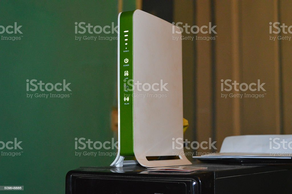 Modem de télécommunication stock photo