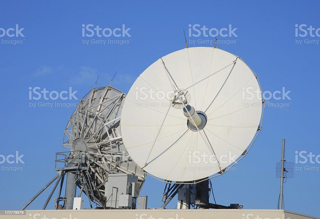 Telecommunications Satellites Dishes royalty-free stock photo