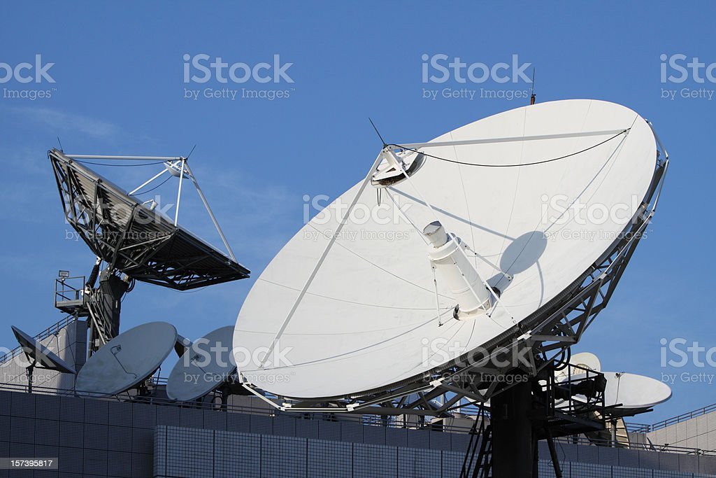 Telecommunications Satellites royalty-free stock photo