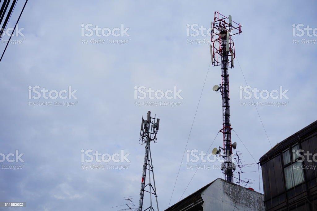 Telecommunications Tower stock photo