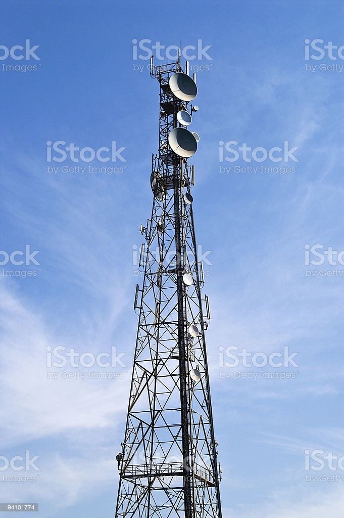 Telecommunications tower royalty-free stock photo