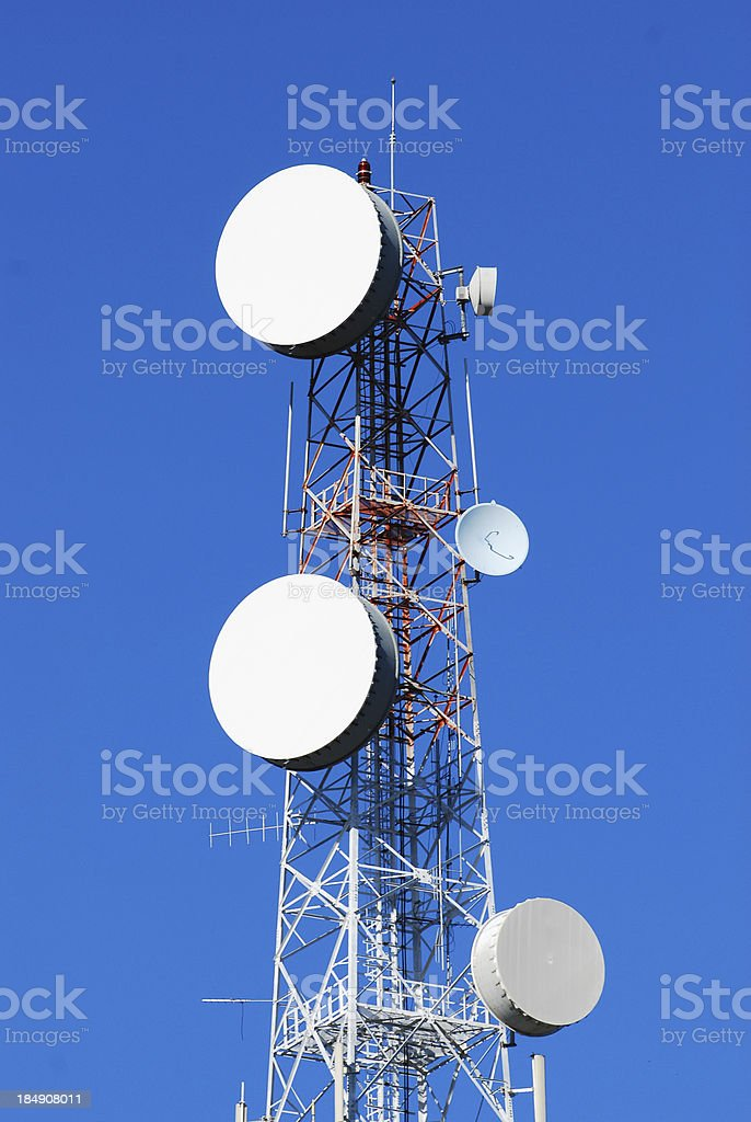 telecommunications towers royalty-free stock photo