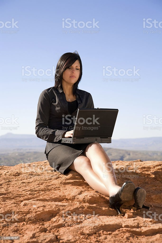 Telecommute Day royalty-free stock photo