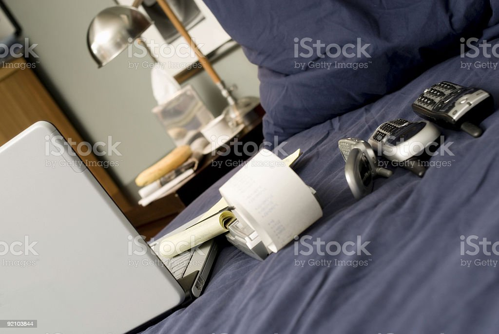 Telecommuter's Morning royalty-free stock photo