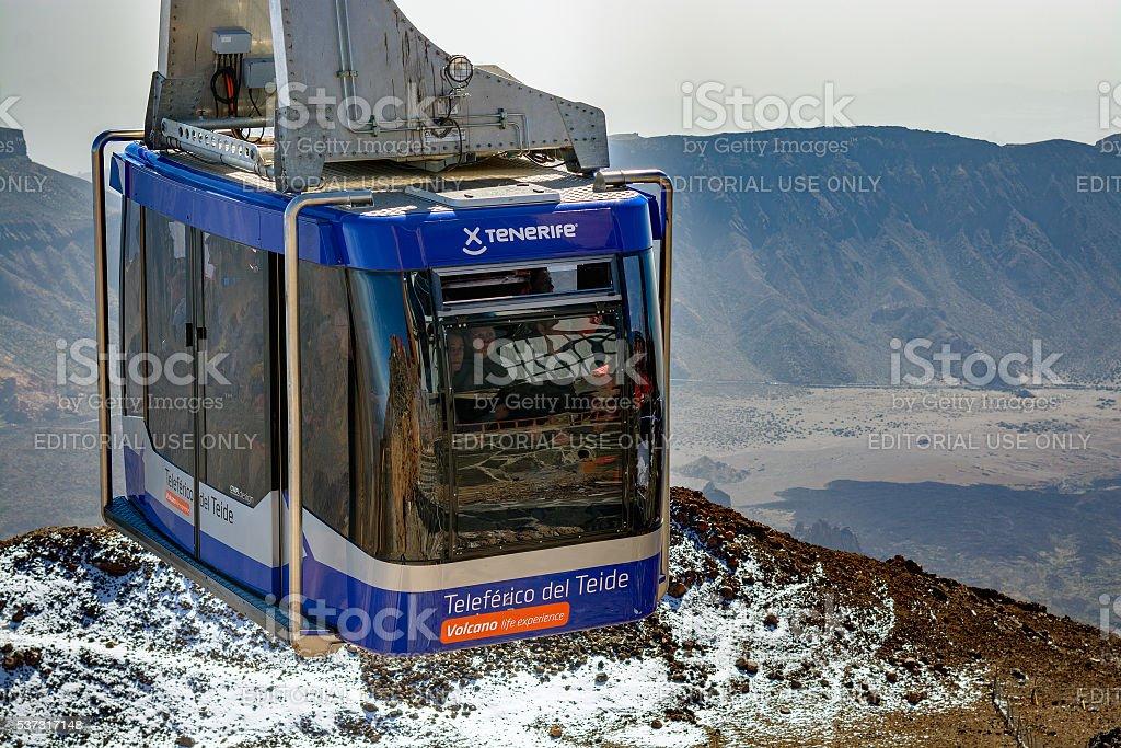Teleferico cable car on Tenerife island stock photo
