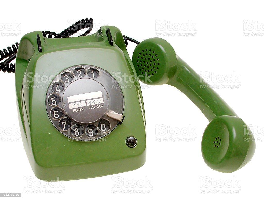 Telefon mit Wählscheibe stock photo