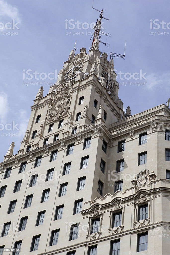 Telefonica Building in Madrid, Spain stock photo