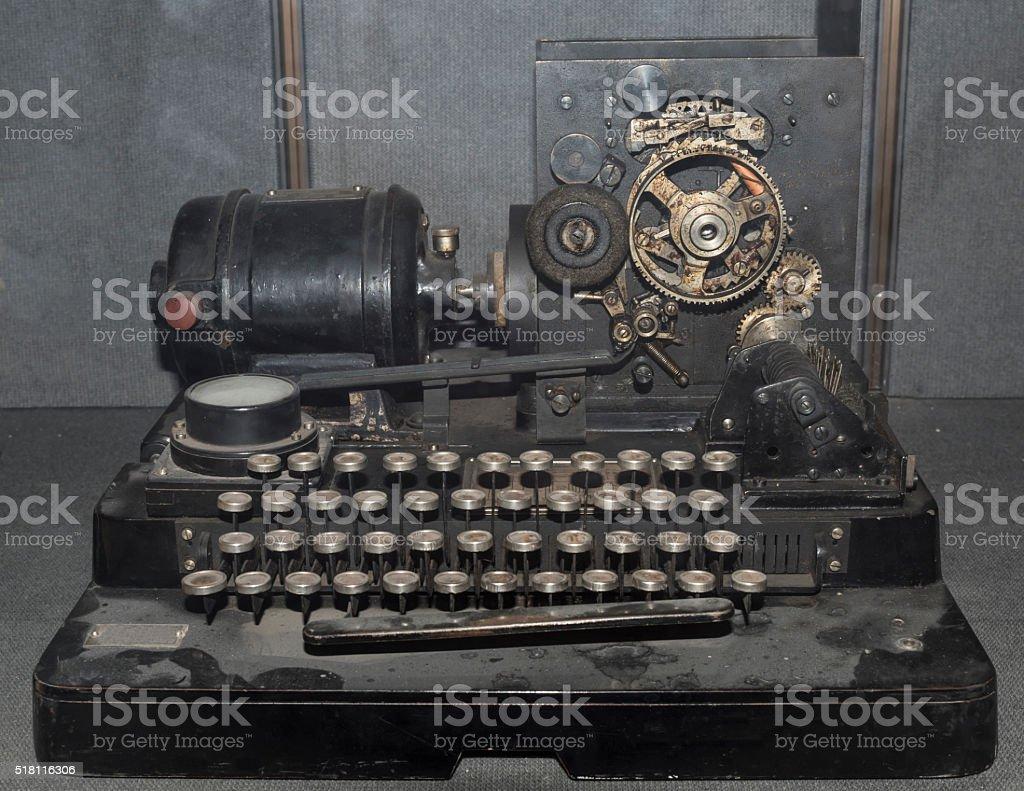 Telegraph apparatus (1928) stock photo