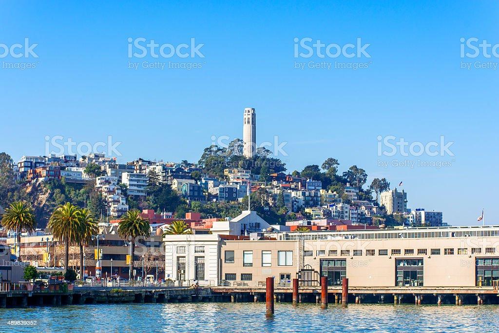 Telegraph Hill & Coit Tower San Francisco California stock photo