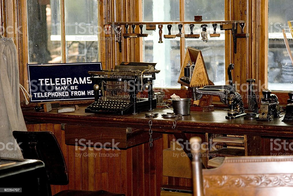 Telegraph Office stock photo