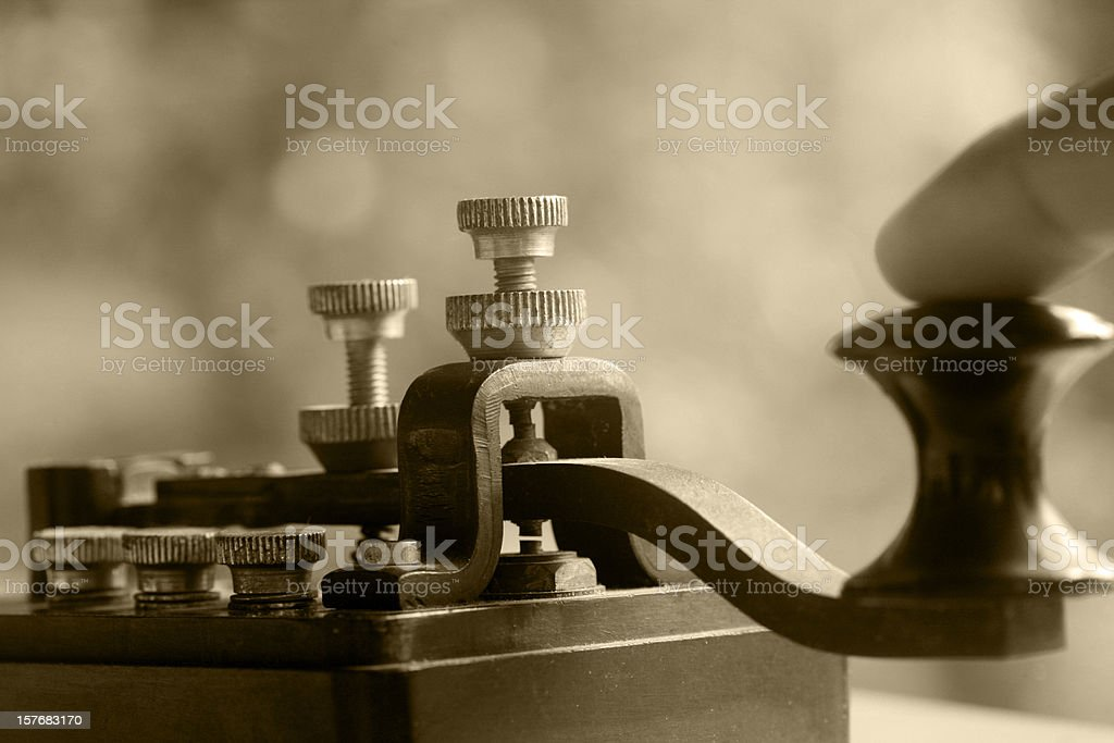 Telegraph stock photo