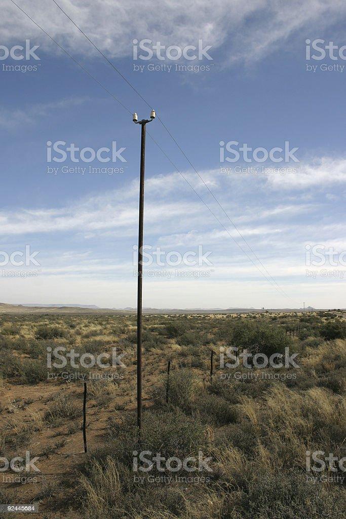 Telegraph Pole 02 stock photo