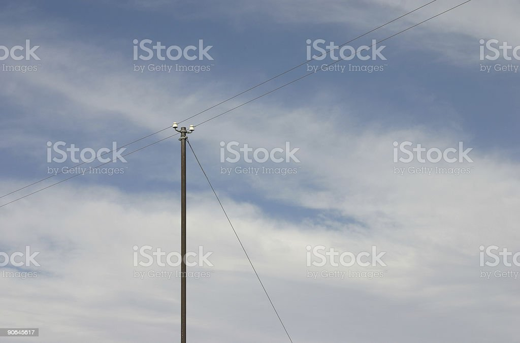 Telegraph Pole 04 stock photo