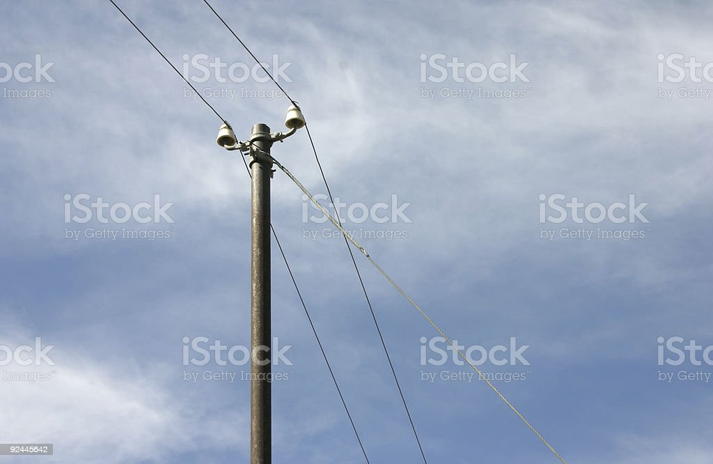 Telegraph Pole 06 stock photo