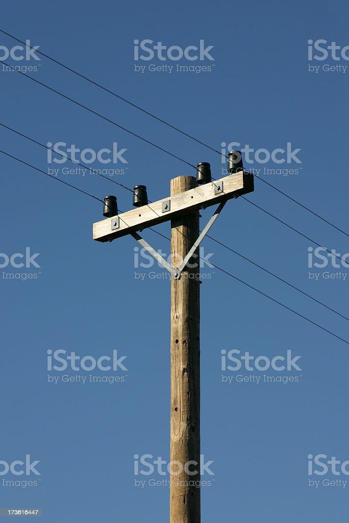 Telegraph Pole 07 stock photo
