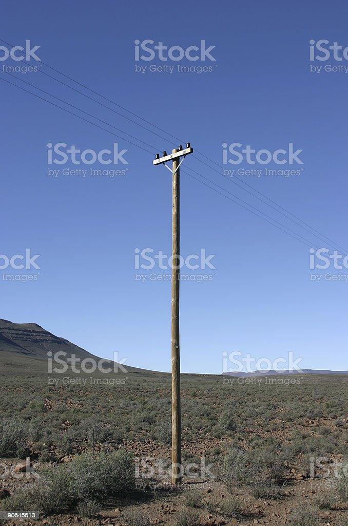 Telegraph Pole 08 stock photo