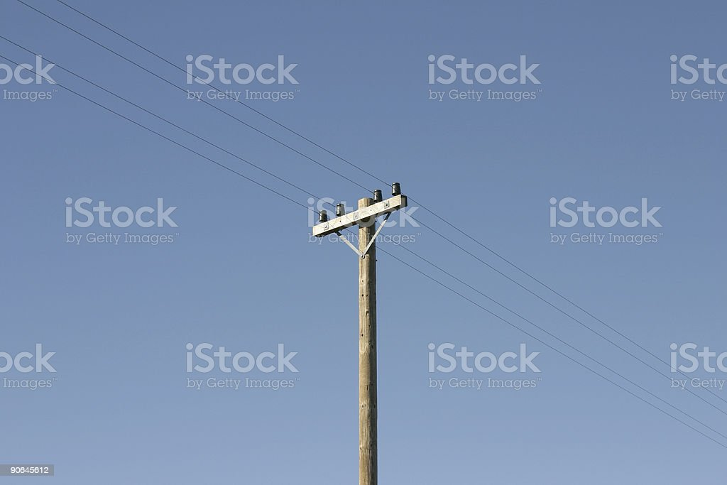 Telegraph Pole 09 stock photo