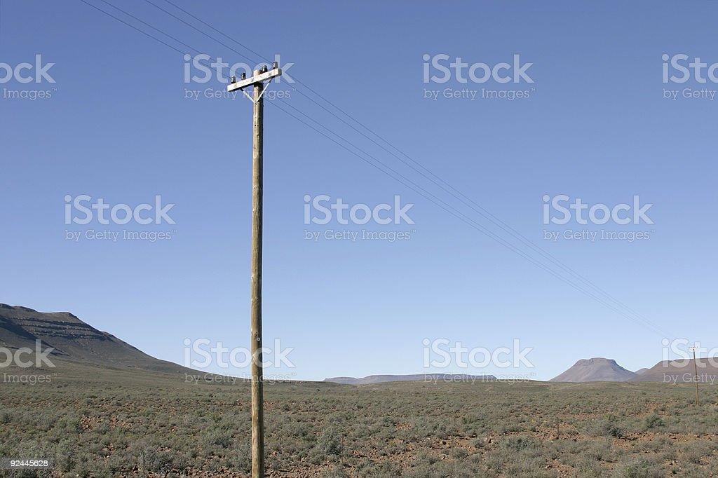 Telegraph Pole 10 stock photo
