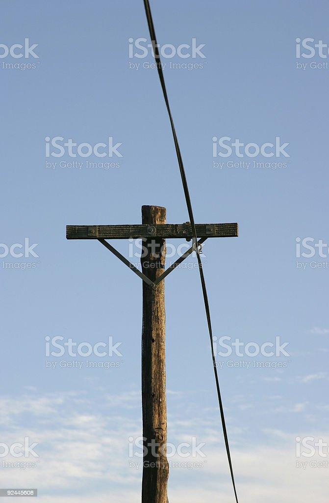 Telegraph Pole 14 stock photo
