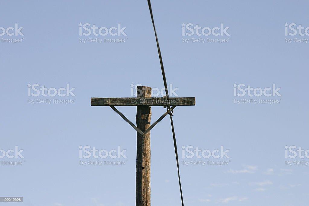 Telegraph Pole 15 stock photo