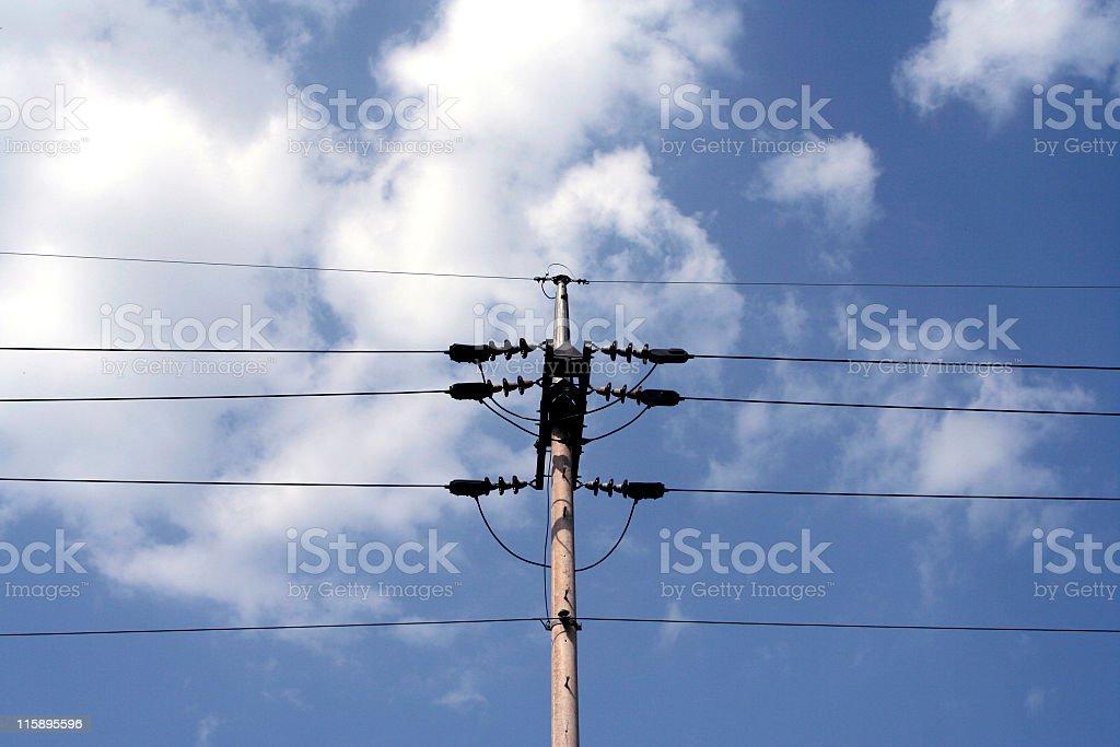 Telegraph pole stock photo