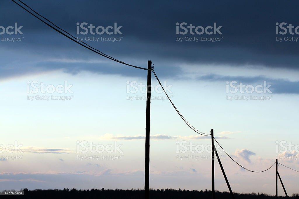 Telegraph Poles. Power Line stock photo