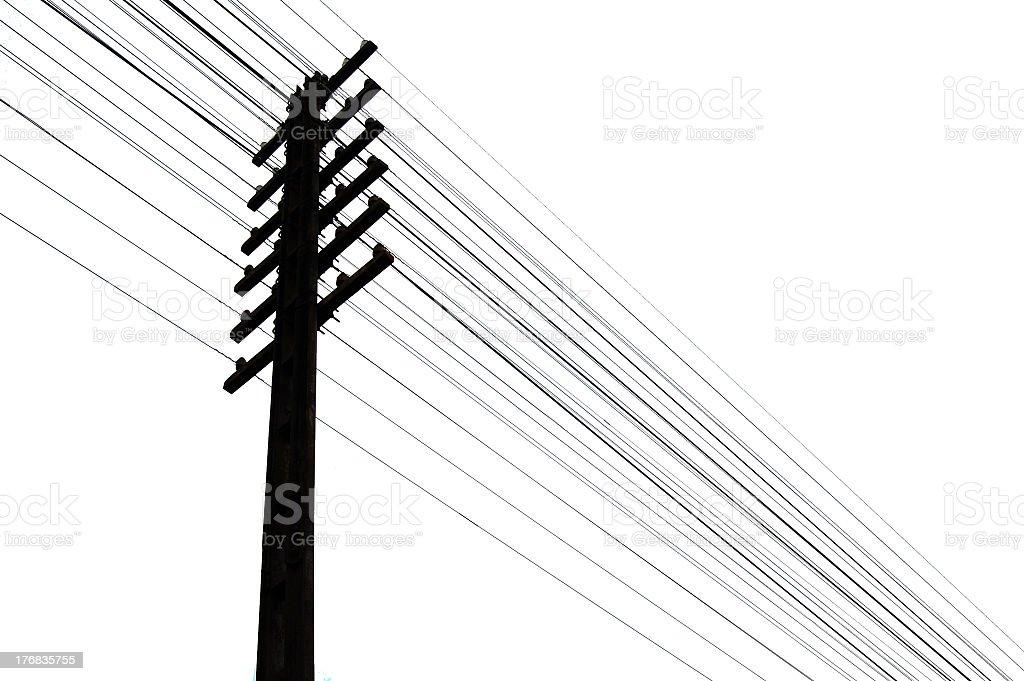 Telegraph wires stock photo