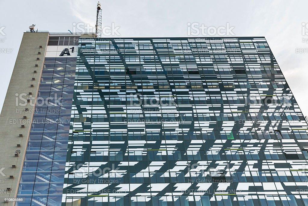 Telekom highrise tower A1 in Graz, Austria. stock photo