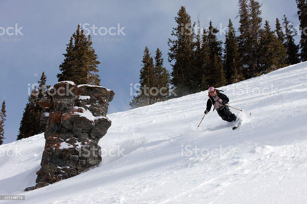 Telemark Skiing royalty-free stock photo