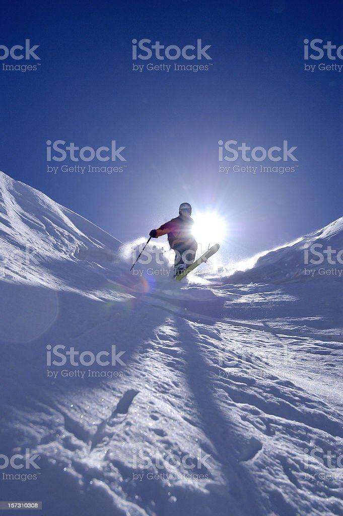 Controluce Telemarker royalty-free stock photo