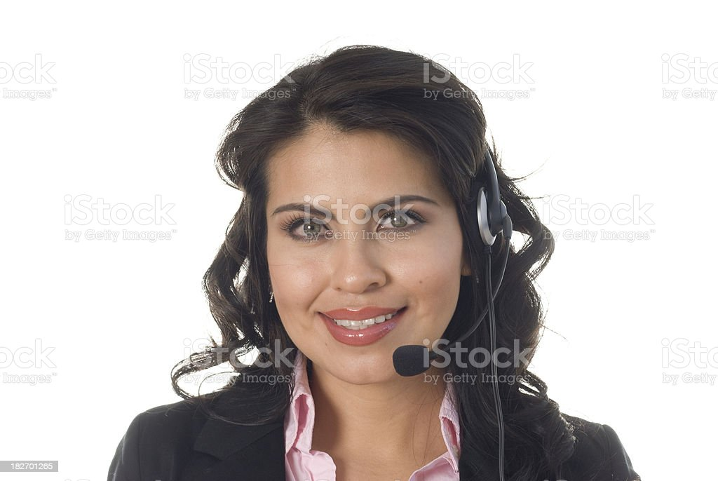 Telemarketing Agent with a smile stock photo
