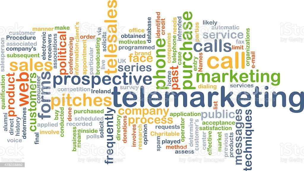 Telemarketing background concept stock photo