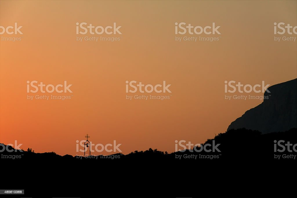 Telendos Island - sunset stock photo
