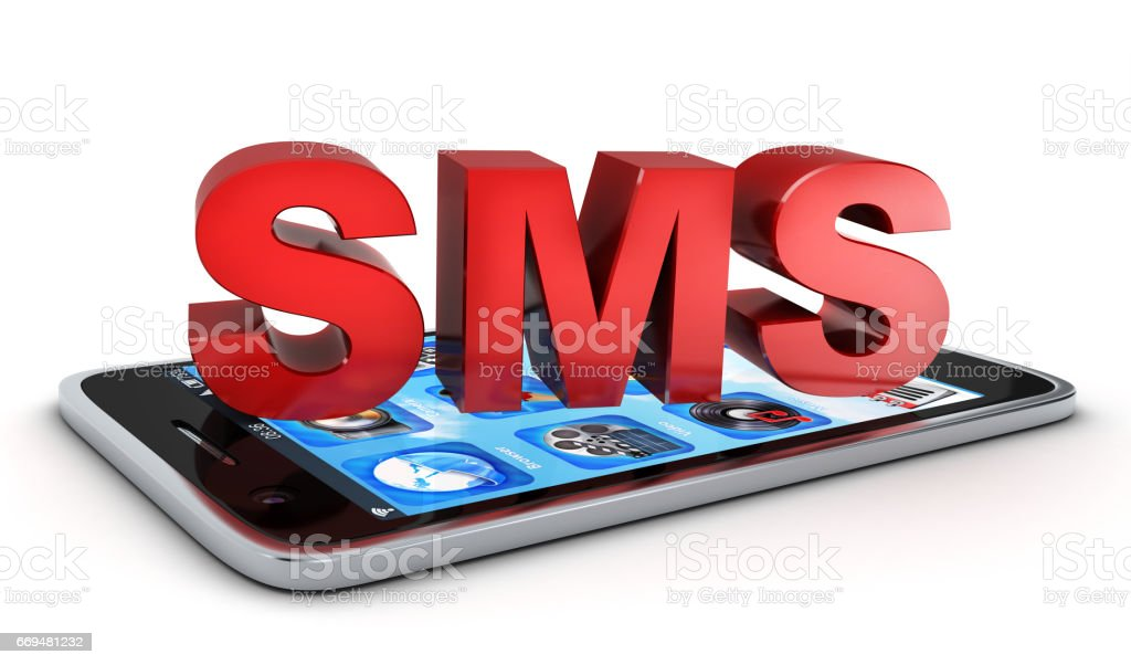 Telephone and Abstract SMS stock photo