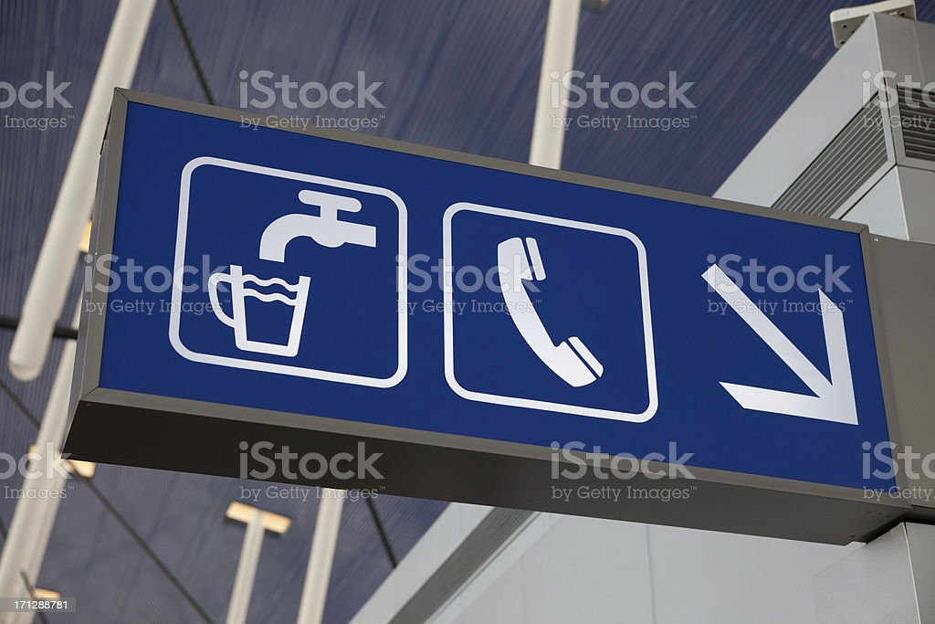 Telephone and Drinking water stock photo