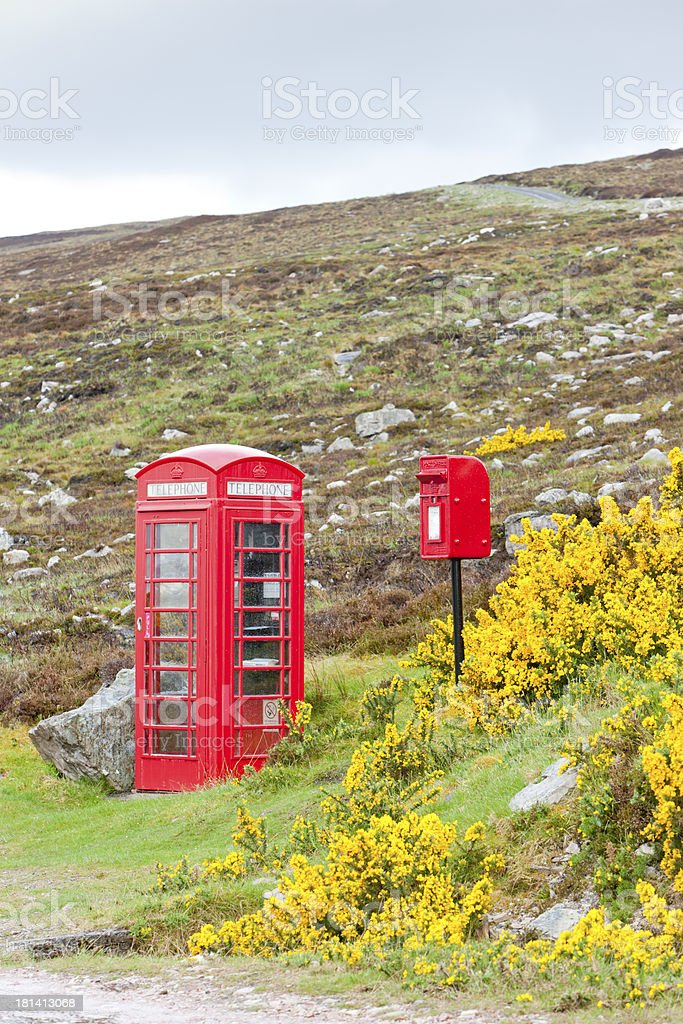 telephone booth and letter box royalty-free stock photo