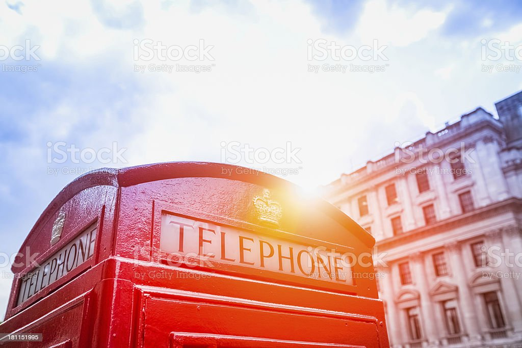 Telephone booth in London royalty-free stock photo