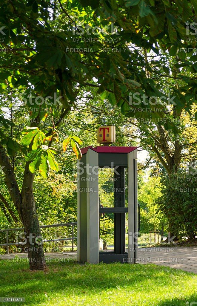 telephone booth of the german Telekom stock photo