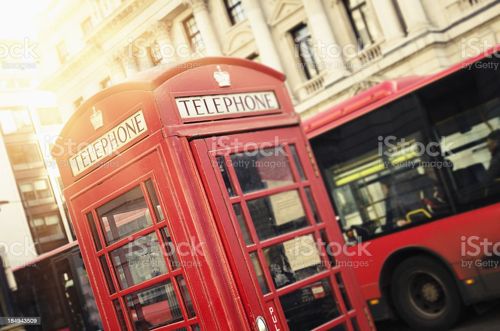 Telephone Booth on London Street stock photo