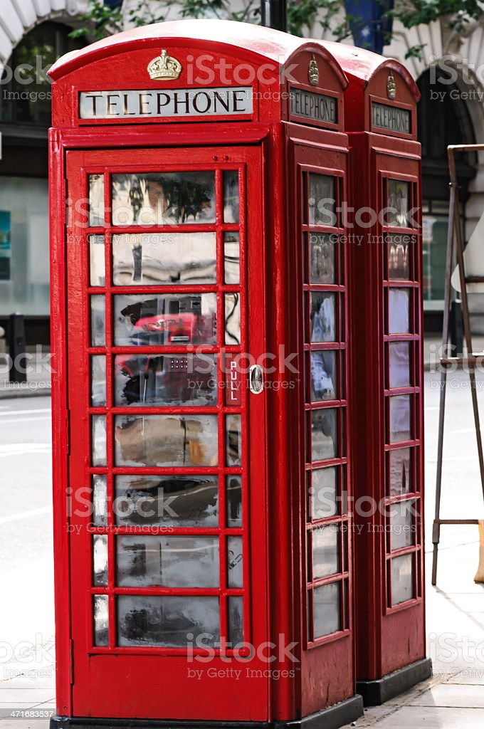 Telephone booth royalty-free stock photo