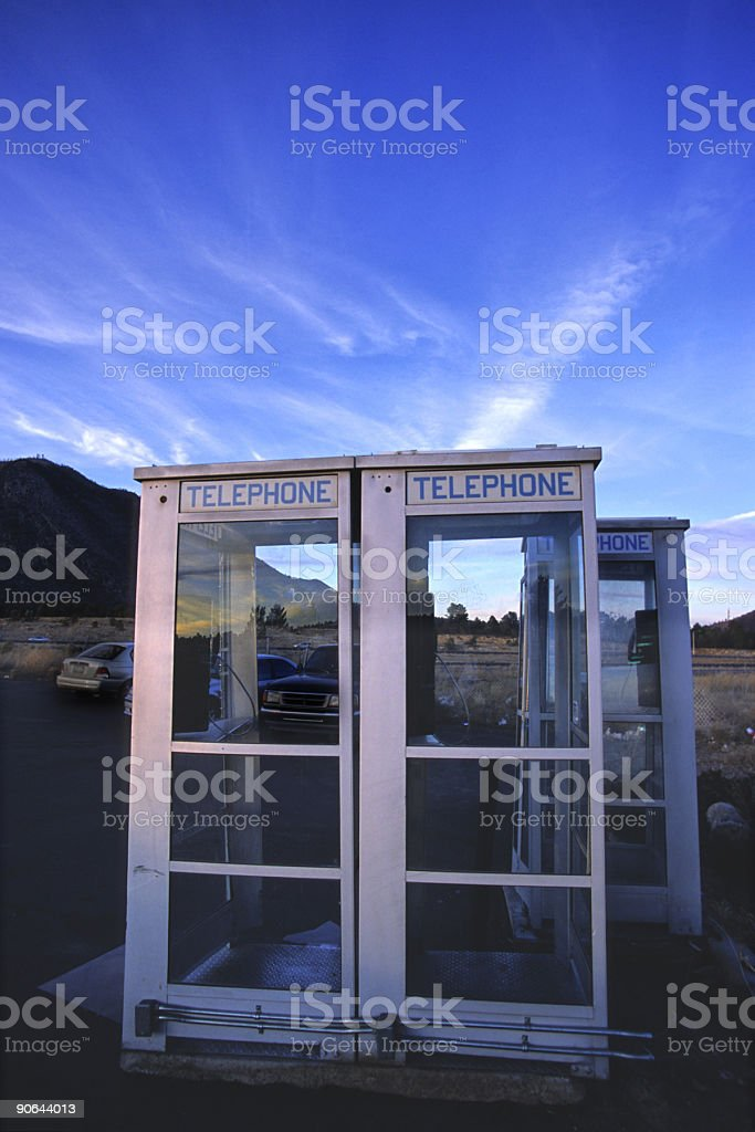 telephone booths royalty-free stock photo